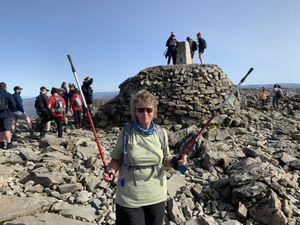 Margaret Broadhead on top of Ben Nevis