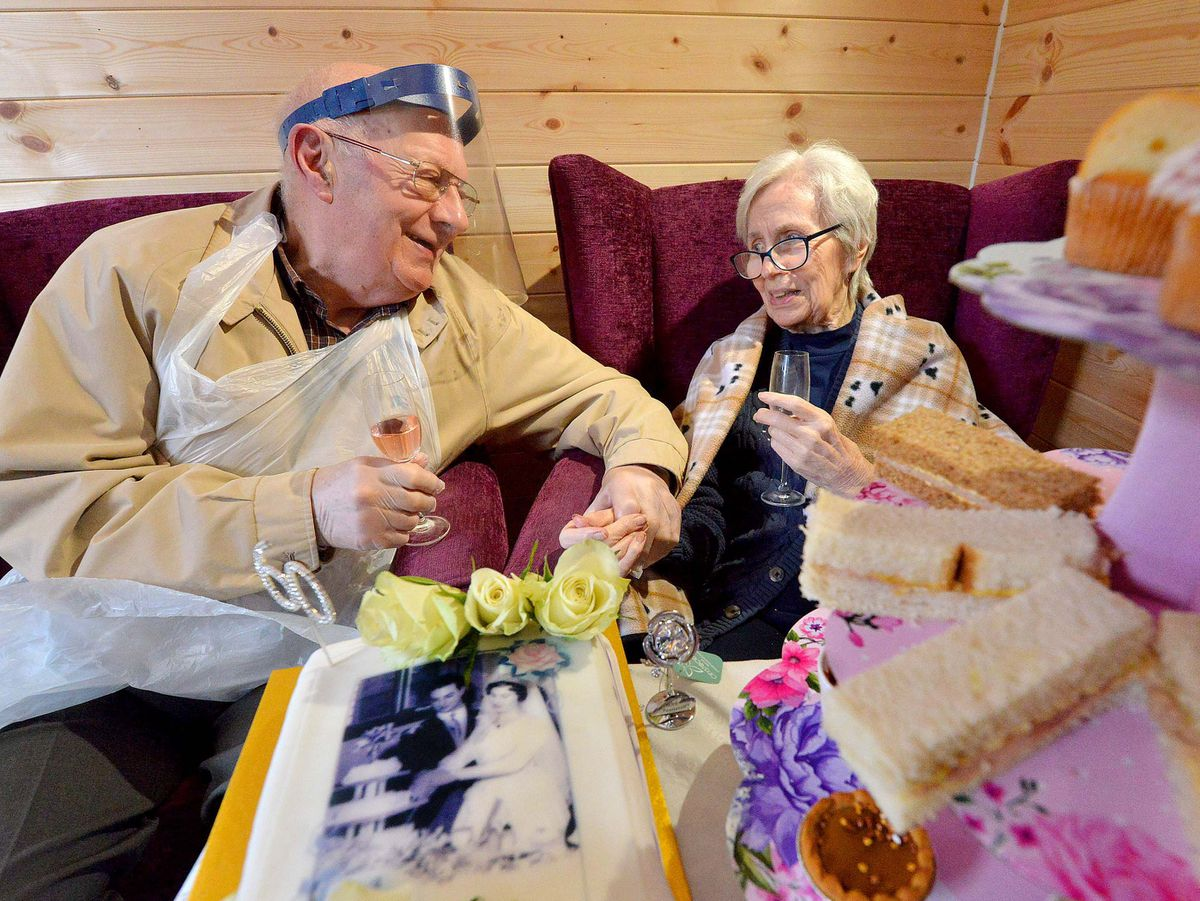 Neil and Rita Price celebrated their 60th wedding anniversary at the residential home