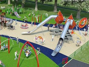 An image of what the playpark will look like