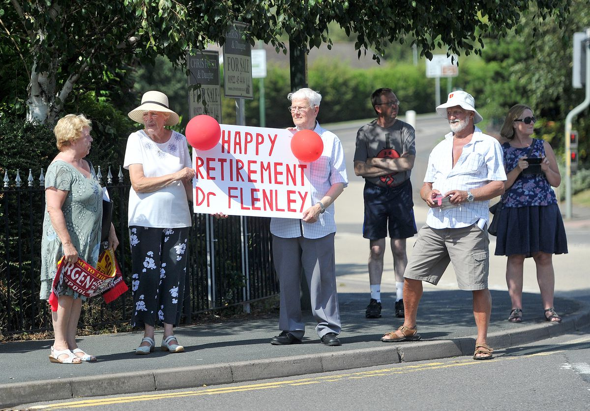 Flags and well-wishes for Dr Flenley