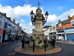 The war memorial in Willenhall Market Place