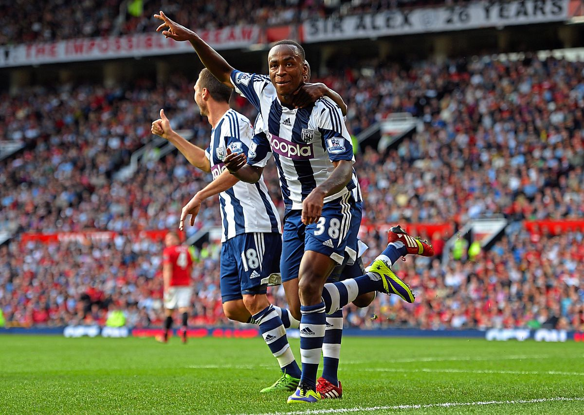 Saido Berahino of West Bromwich Albion celebrates his goal (AMA)