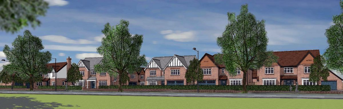 An artist impression of the proposed new homes set to be built on the former Broadway North Resource Centre in Walsall. Photo: White Ridge Architecture
