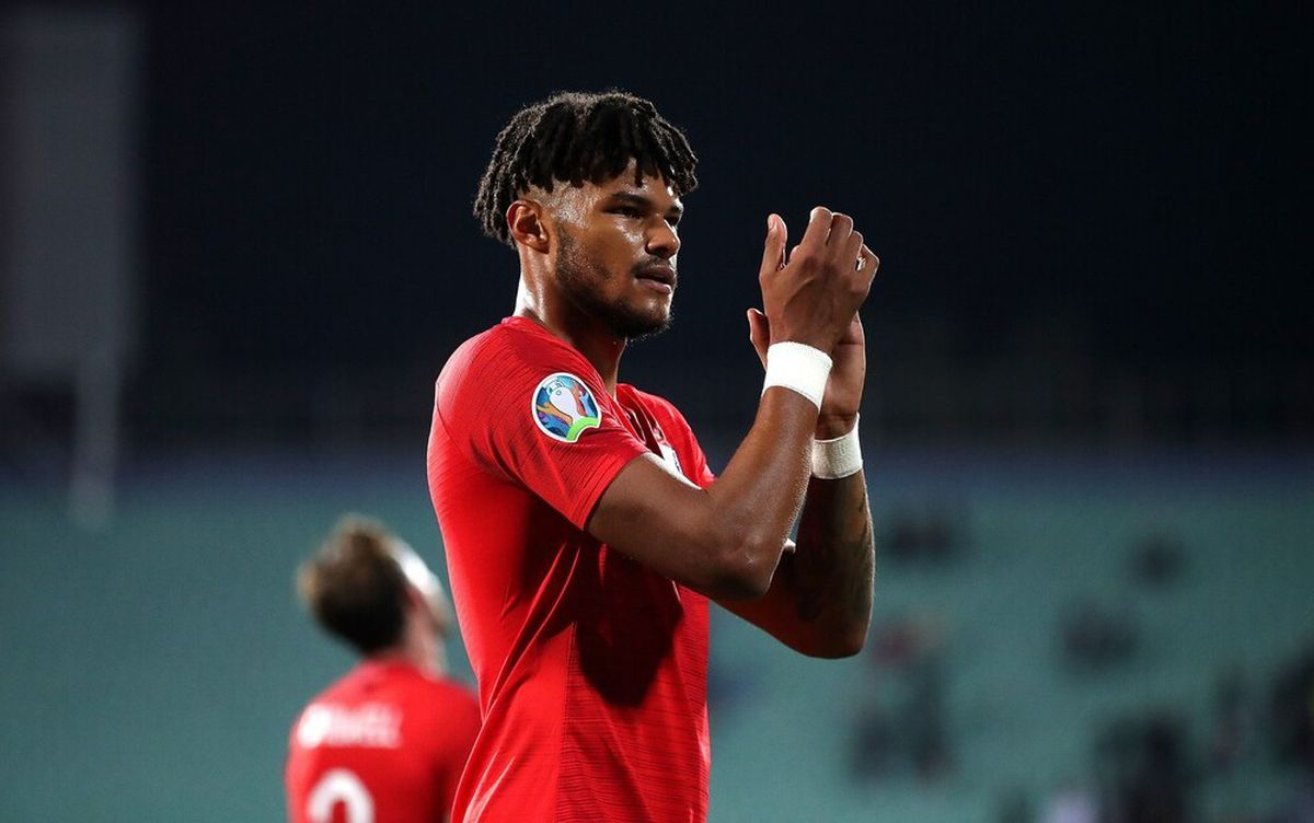 England's Tyrone Mings applauds fans after the final whistle at the Vasil Levski National Stadium, Sofia, Bulgaria