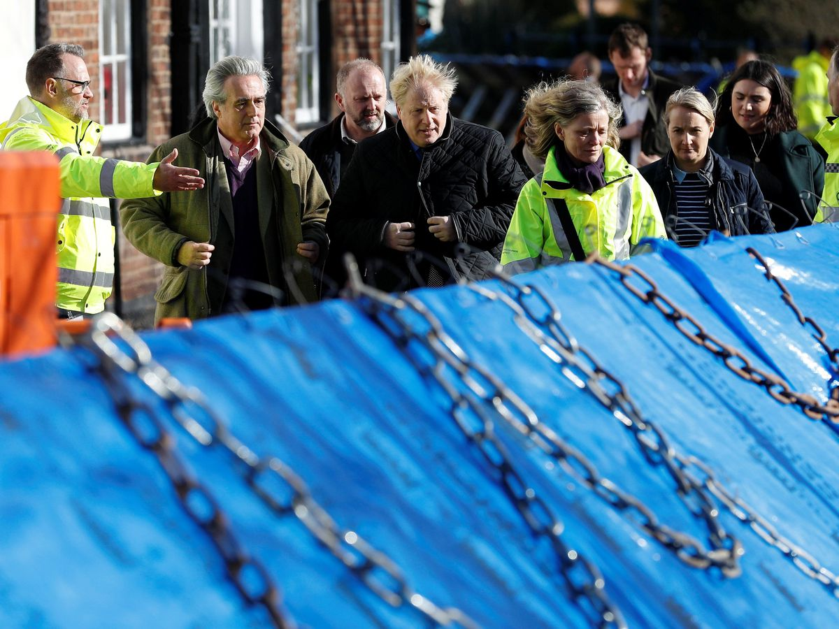 Britain's Prime Minister Boris Johnson visits Bewdley