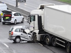 M5 closed northbound after woman killed in lorry crash