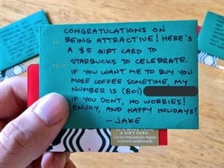 This writer is handing out Starbucks gift cards in a 'seasonal' dating approach