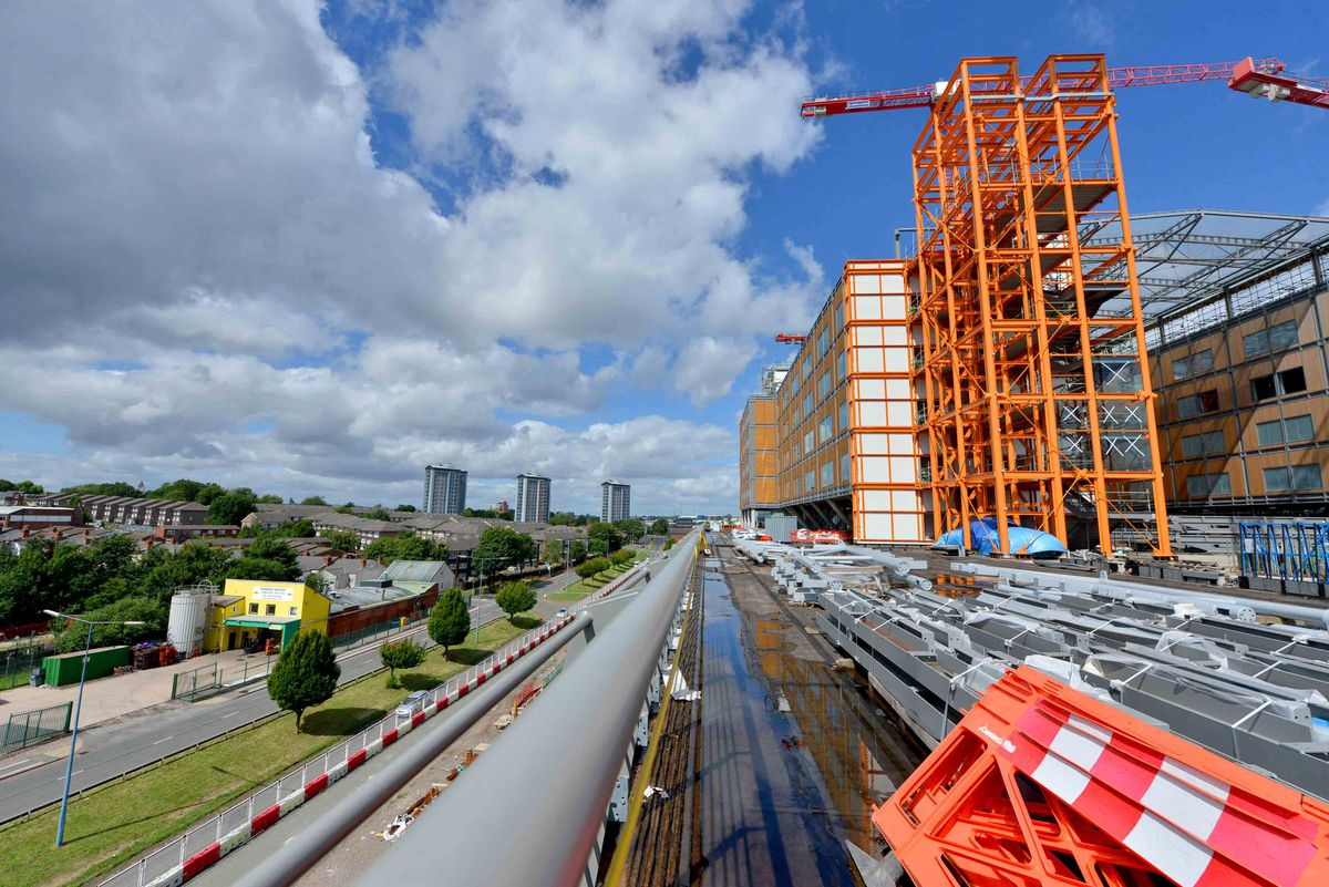 Cranes and machinery have remained quiet at the super hospital site