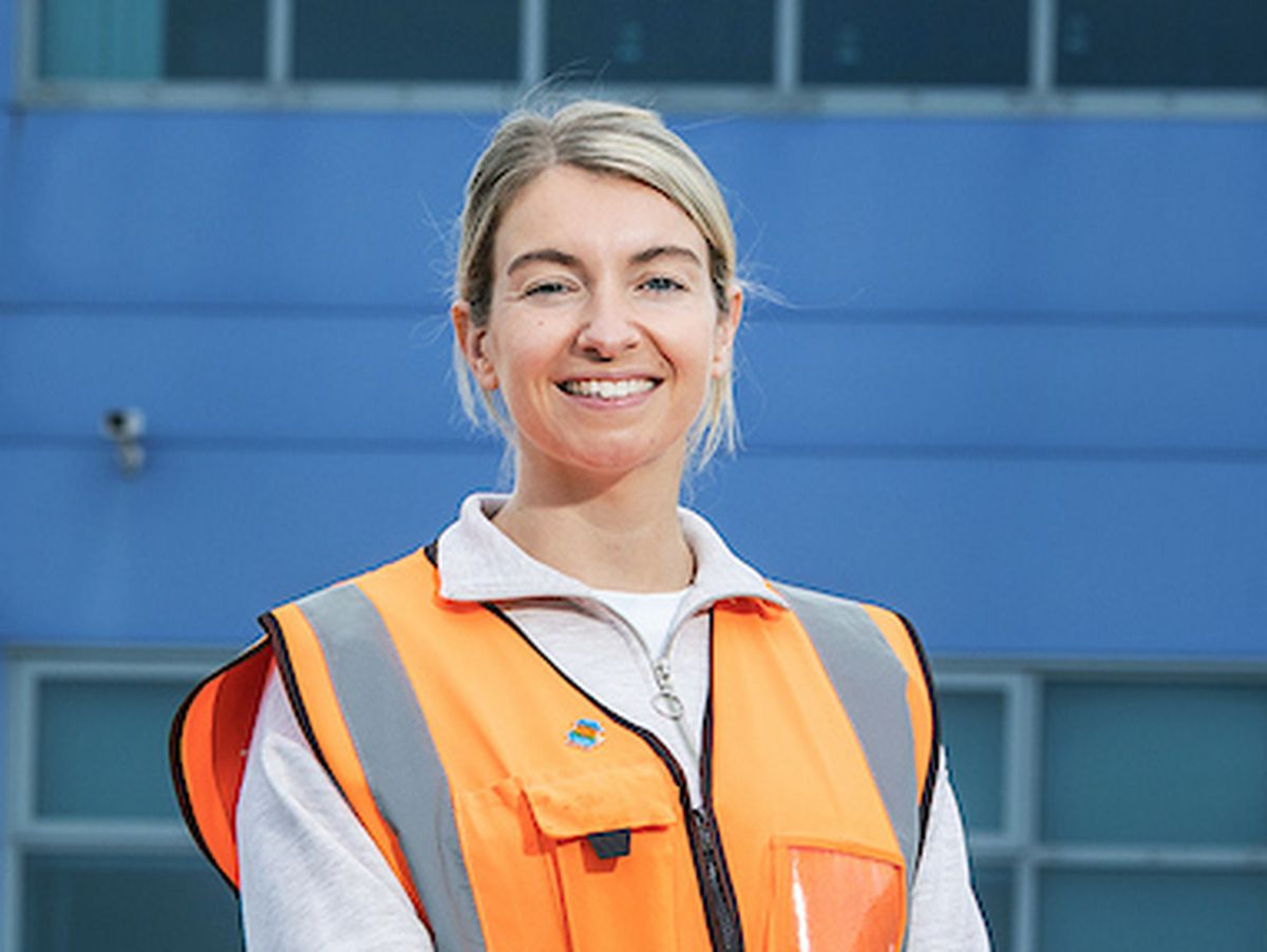 Louise Tester at Amazon's Rugeley fulfilment centre