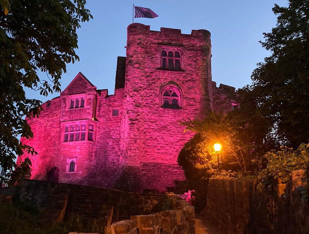 Tamworth Castle lit up