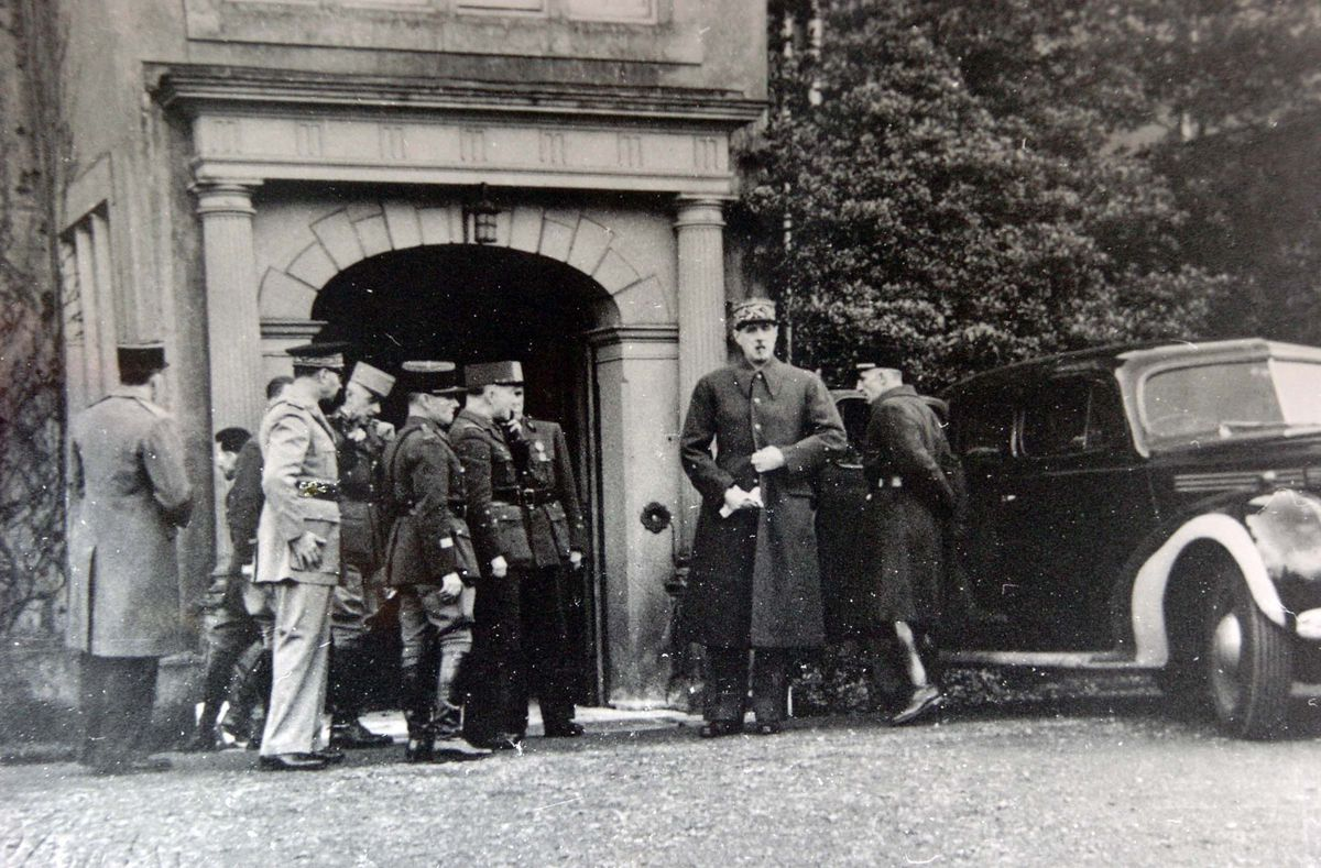 Charles DeGaulle on July 20, 1942, at Ribbesford House in Bewdley