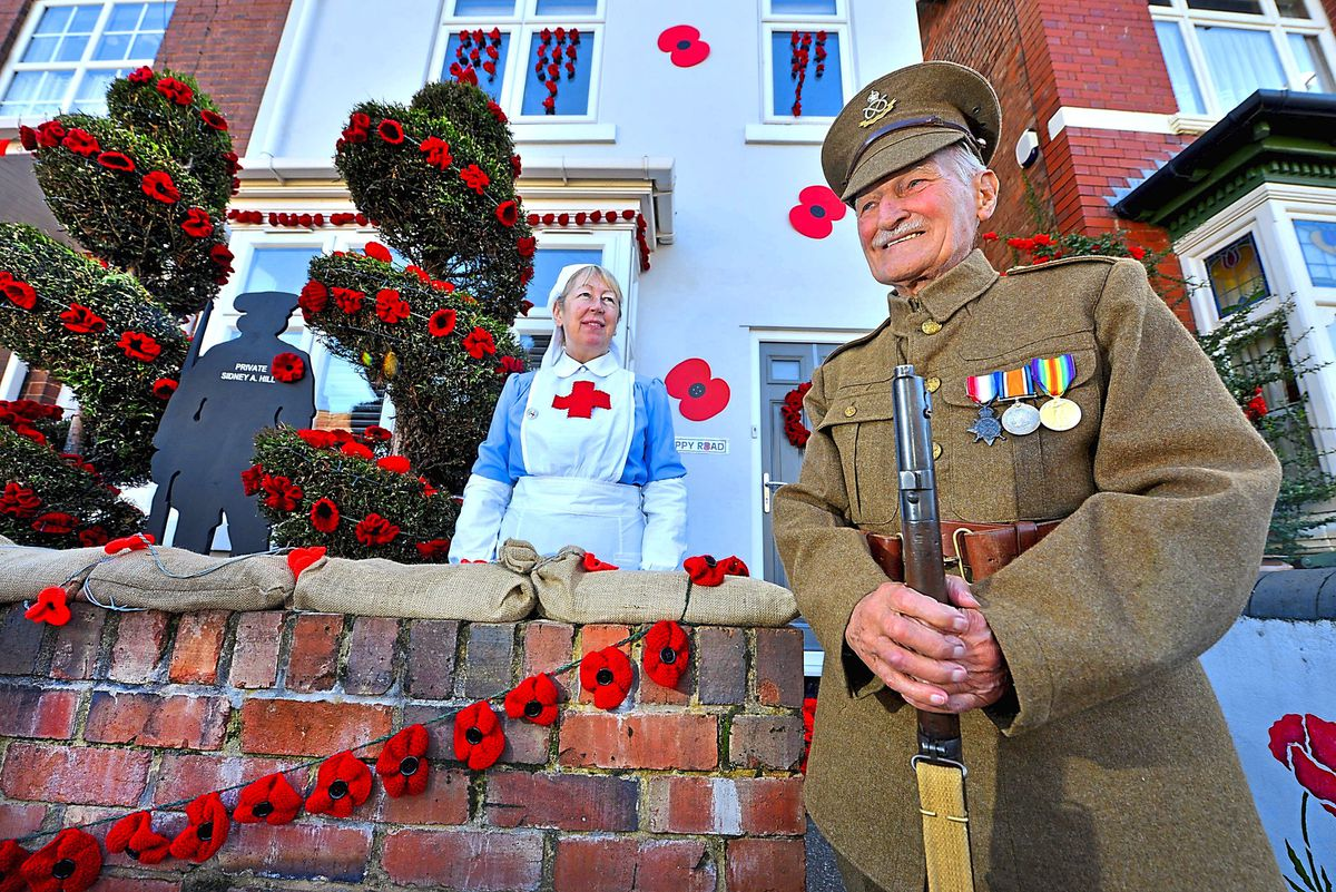 Evelyn Slater and 92-year-old war veteran Ron Mattison from Great Wyrley