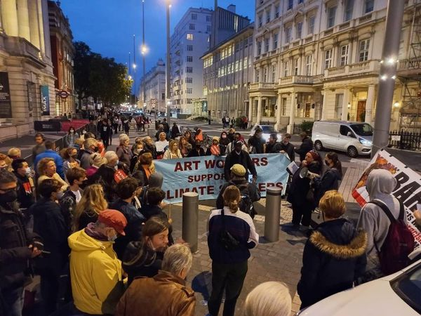 UK Student Climate Network protest against the Science Museum's sponsorship deals with fossil fuel companies