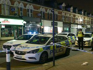 Police at the scene in Poplar Road. Photo: SnapperSK