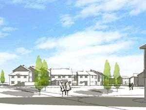 An artist impression of how the proposed housing could look on Goscote Lane. Photo: St Francis Group