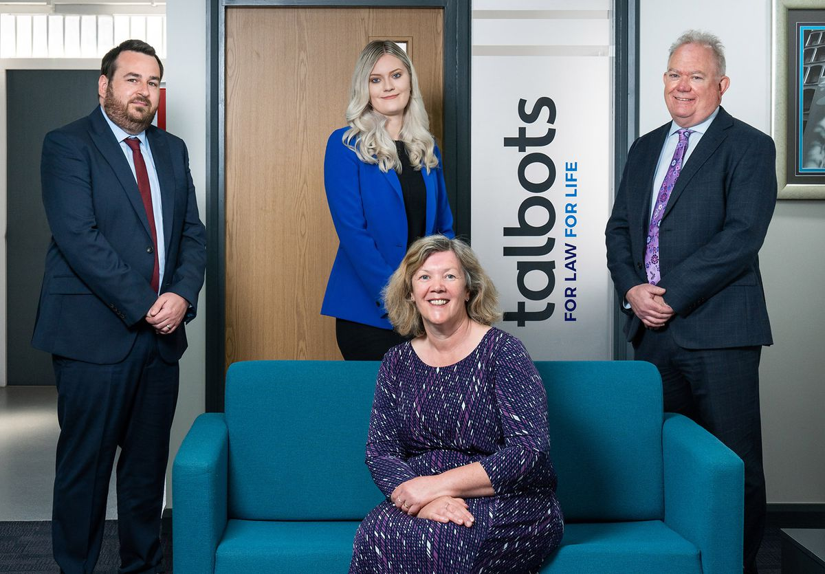 Mike Linford (director and solicitor), Sophie Evans (trainee solicitor), Shaun Owen (director and solicitor) with Nicola Reeve (director and head of commercial property and corporate services) seated