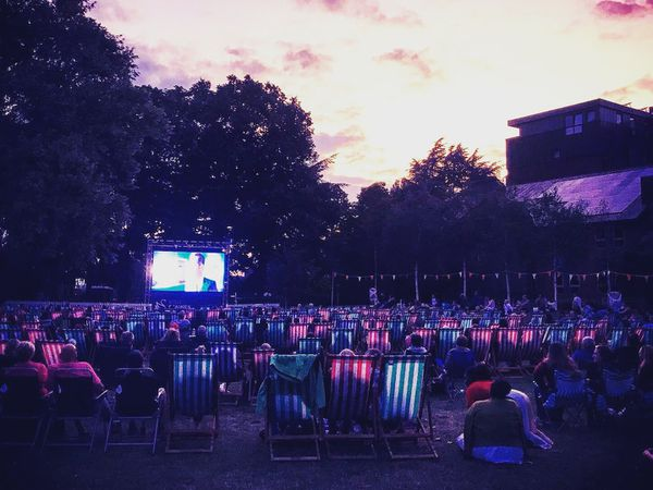 An example of an outdoor cinema