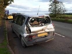 Police seize car after crash with lorry near Bridgnorth