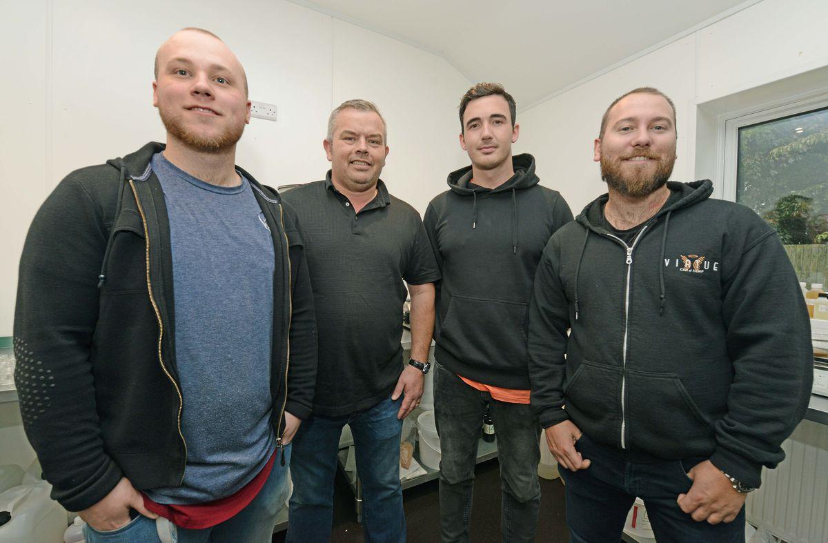 The management team at CBD Virtue: Dean Burke, Richard Butler, Shannon Fyfe and Ross Burke