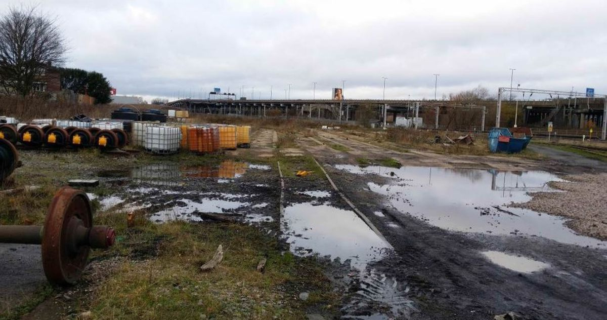 Bescot sidings yard, the site of the proposed factory