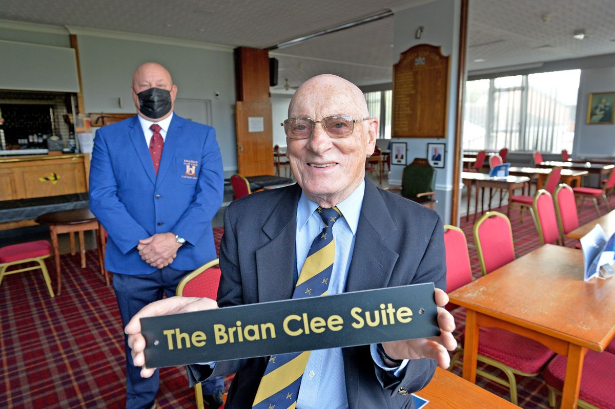 Dudley Golf Club are renaming the golf club lounge after their longest-serving member Brian Clee, who will help cut the ribbon.