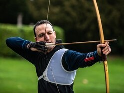 Warwick Castle bowman challenges Team GB great ahead of Festival of Archery - with pictures