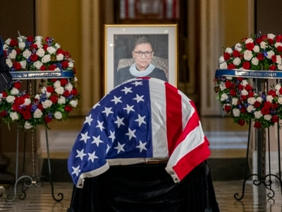 Nancy Pelosi opens Ruth Bader Ginsburg service 'with profound sorrow'
