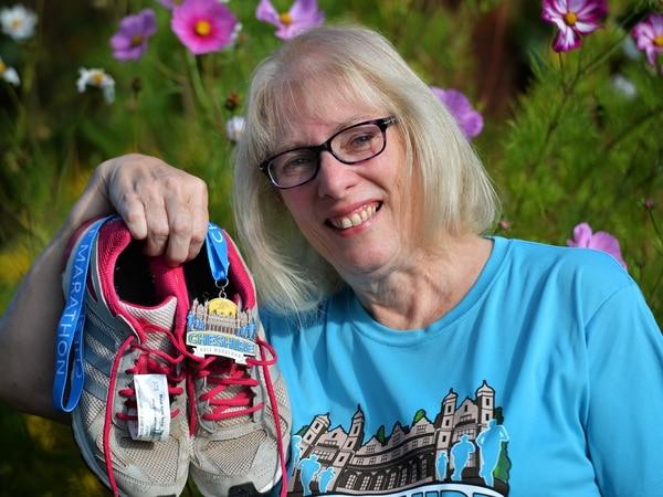 Jackie fights back after van collision to take on half marathon