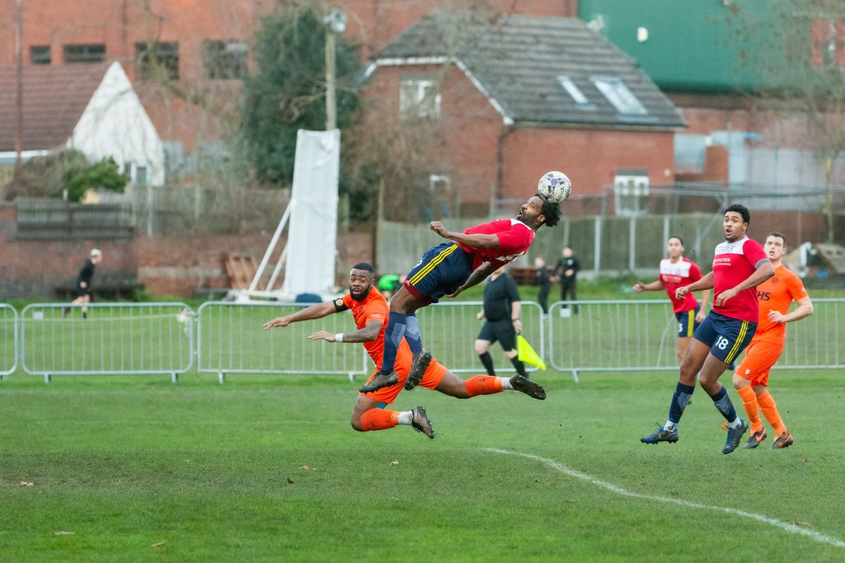 Action from OJM Black Country Rangers' draw with Bilston Town in the West Midlands League Premier Division (Pic: Stuart Leggett)