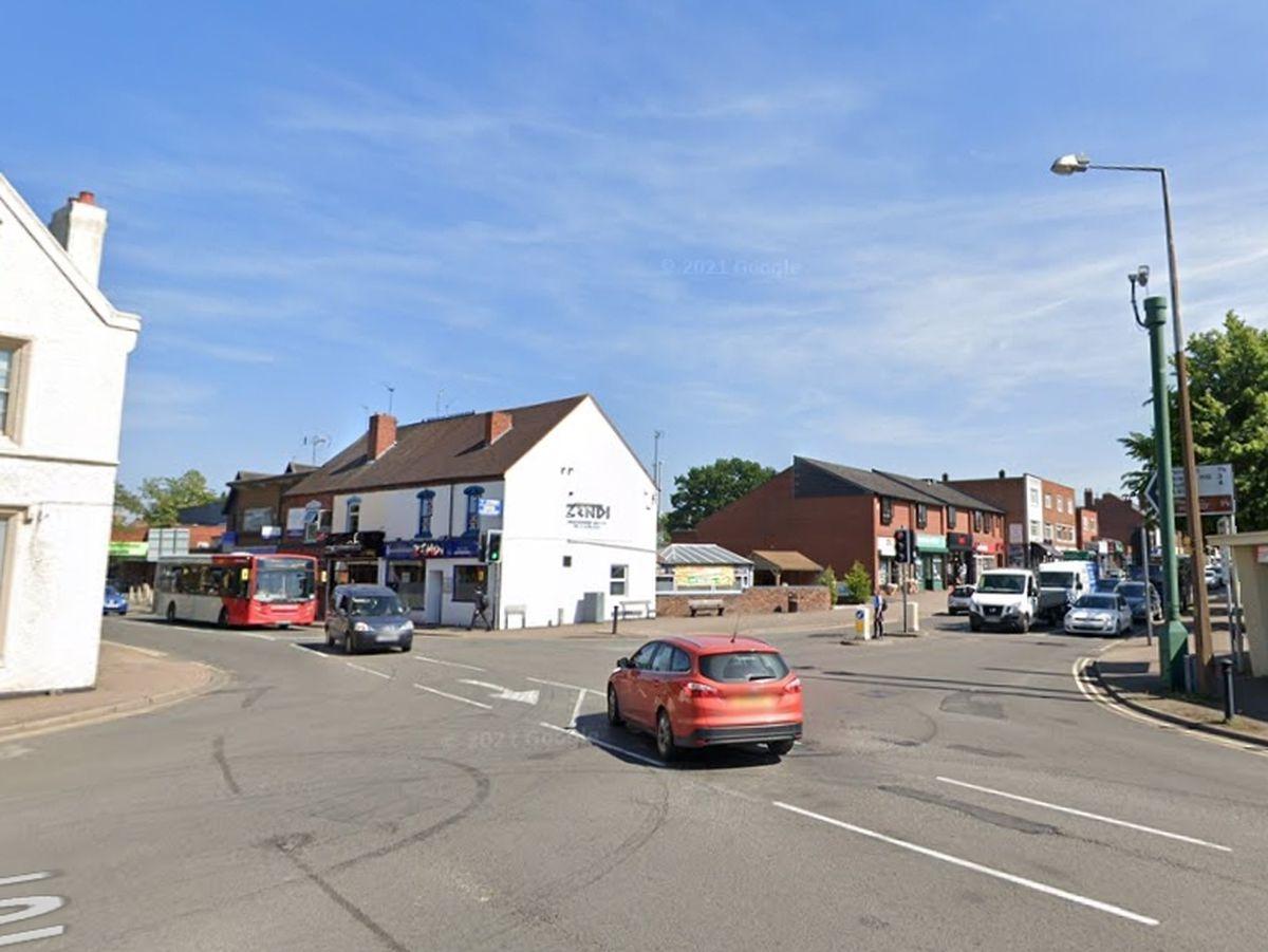 The crash happened in Kingswinford on Saturday. Photo: Google