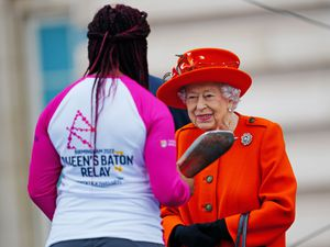 The Queen launched her baton relay