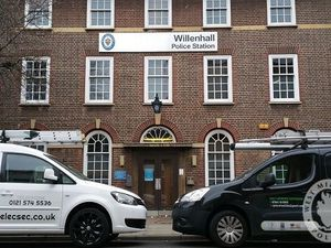 MJB Electronic Security and RJ Homes Electrical Services outside Willenhall Police station