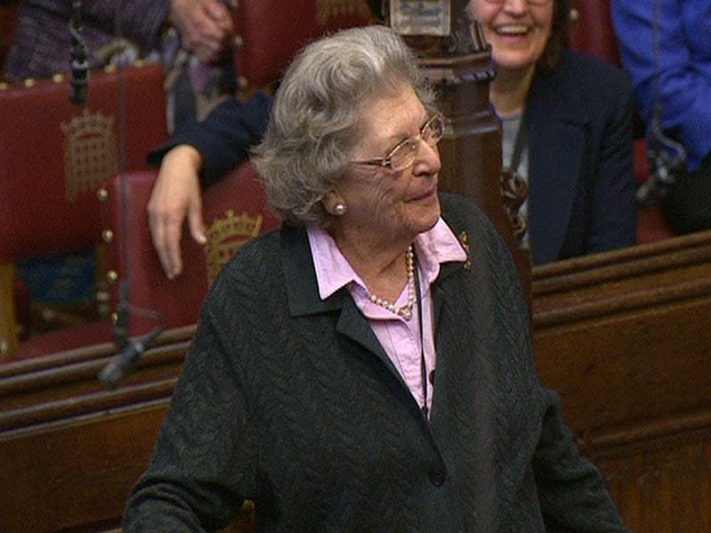 Baroness Trumpington, Bletchley Park code-breaker with celebrated V-sign, dies