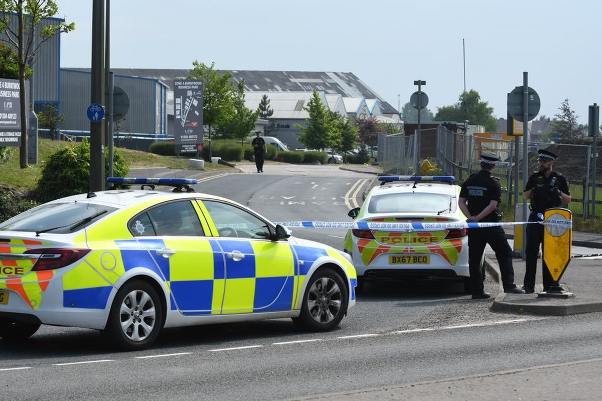 Police kept a 200m (656ft) cordon in place on Friday. Picture: @snappersk