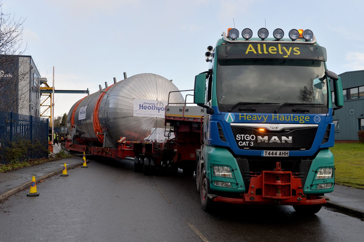 The biggest ever vessel produced by European Heathyards takes to the road