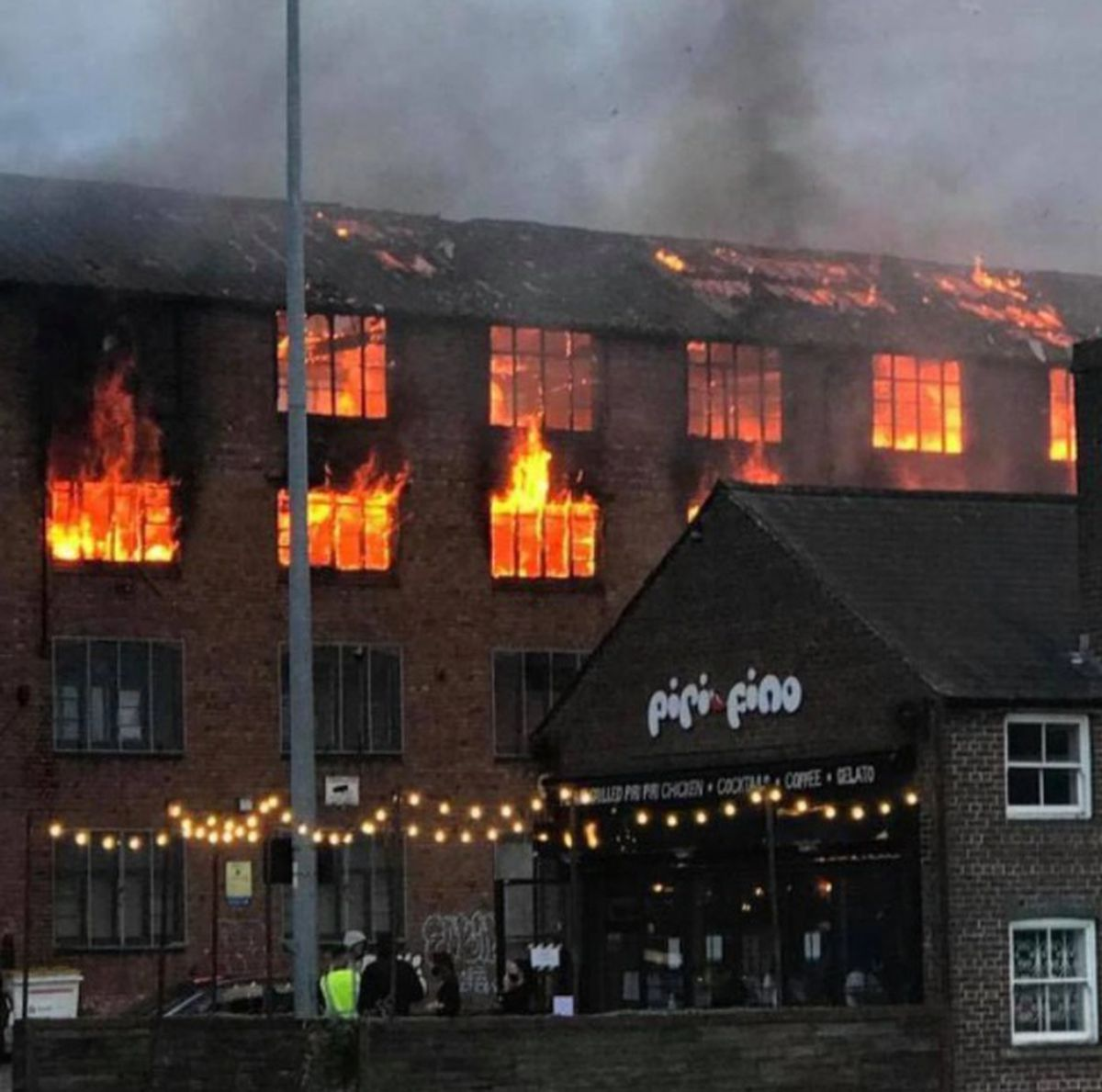 The fire in Walsall. Photo: Your Walsall