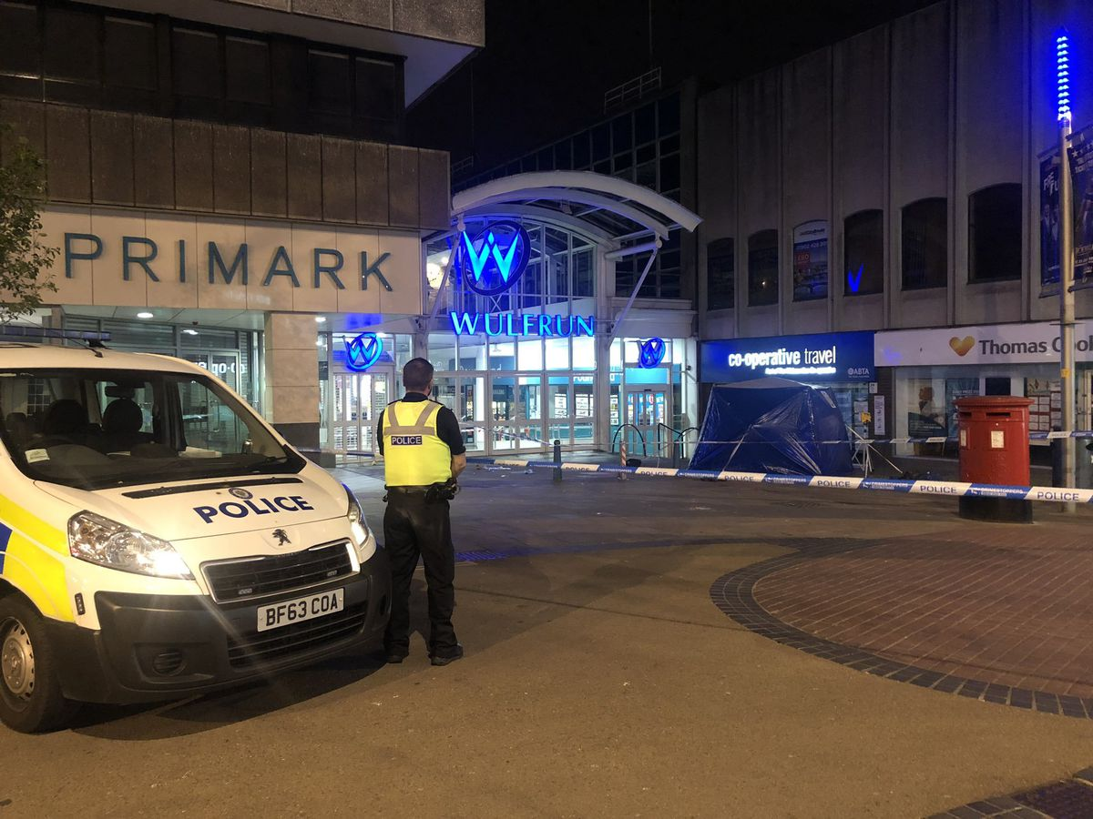 Primark and the Wulfrun Centre were cordoned off after the attack