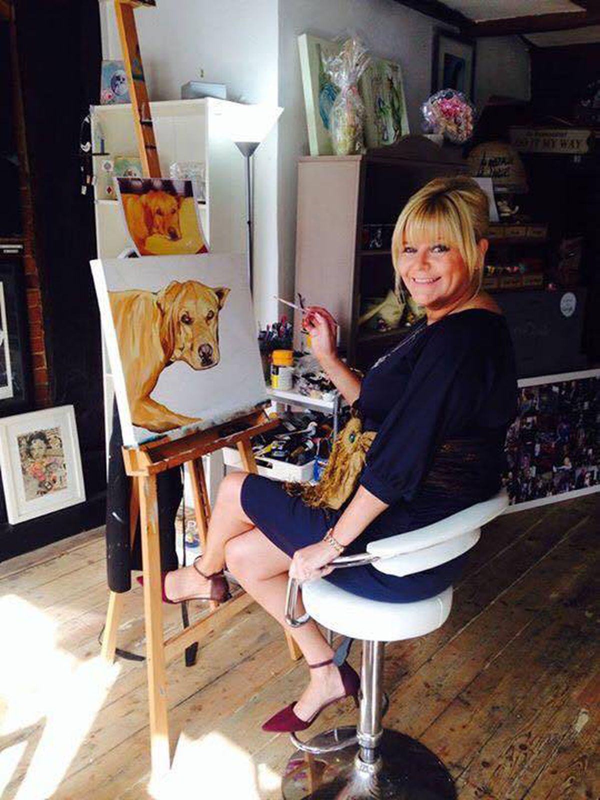 Sue at work in her studio