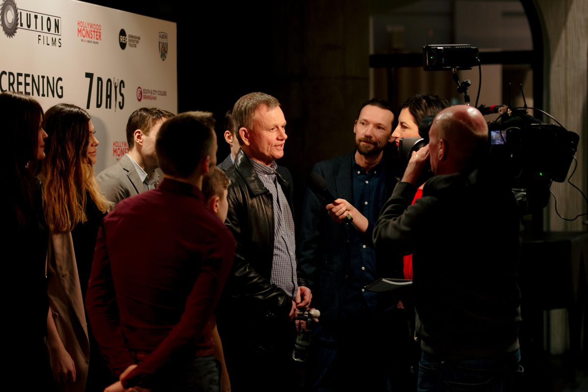 Dave being interviewed ahead of the screening