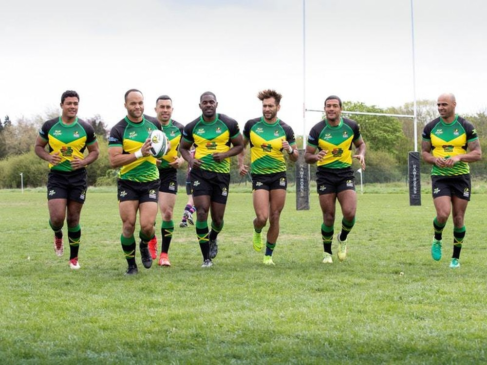 The Jamaican sevens rugby team (Chris Radburn/Tropical Sun/PA)