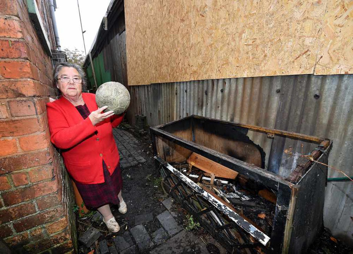 The passage at Mary's house is right next to the damaged football stand