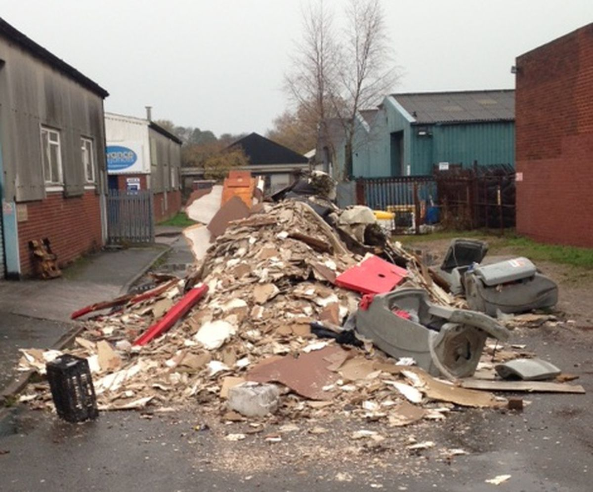 Organised gangs are now said to be dumping waste