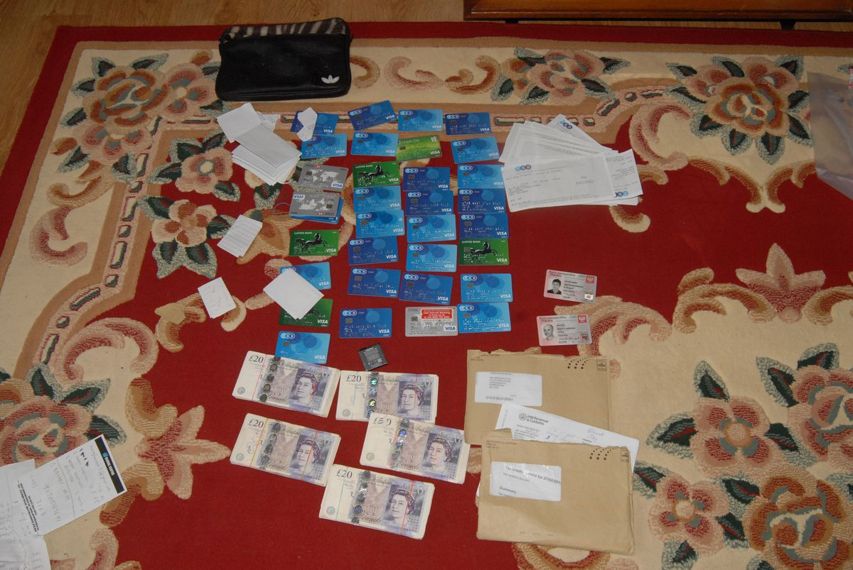 Some of the credit and debit cards created in the victims' names