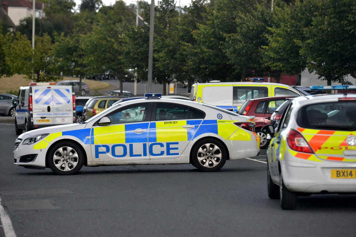 Numerous police cars were in attendance