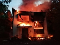 Suspected arson destroys derelict building in Sedgley