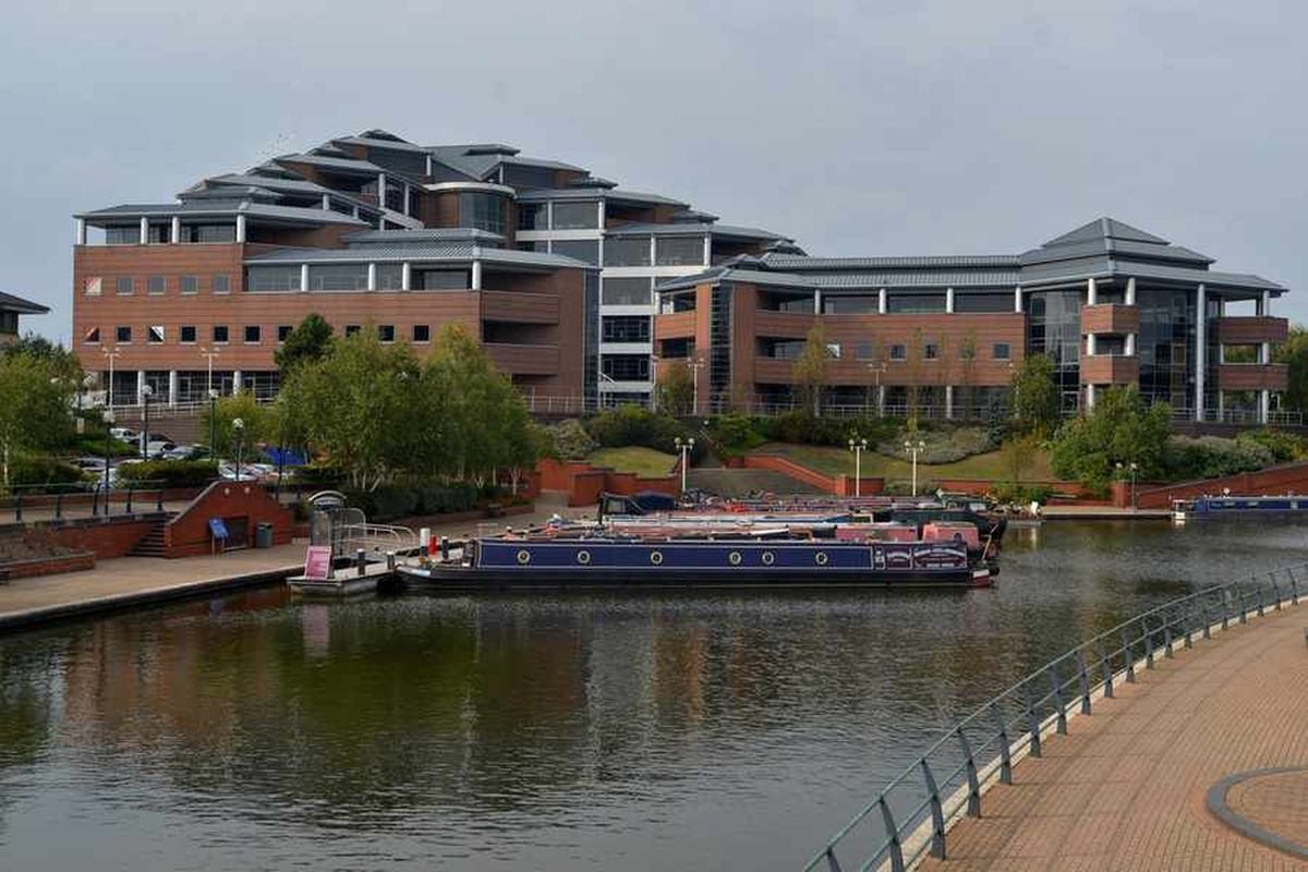 The Waterfront business and leisure park replaced the Round Oak steel works