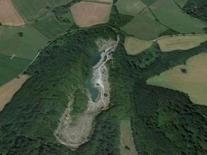 An aerial view of Shavers End Quarry. Photo: Google