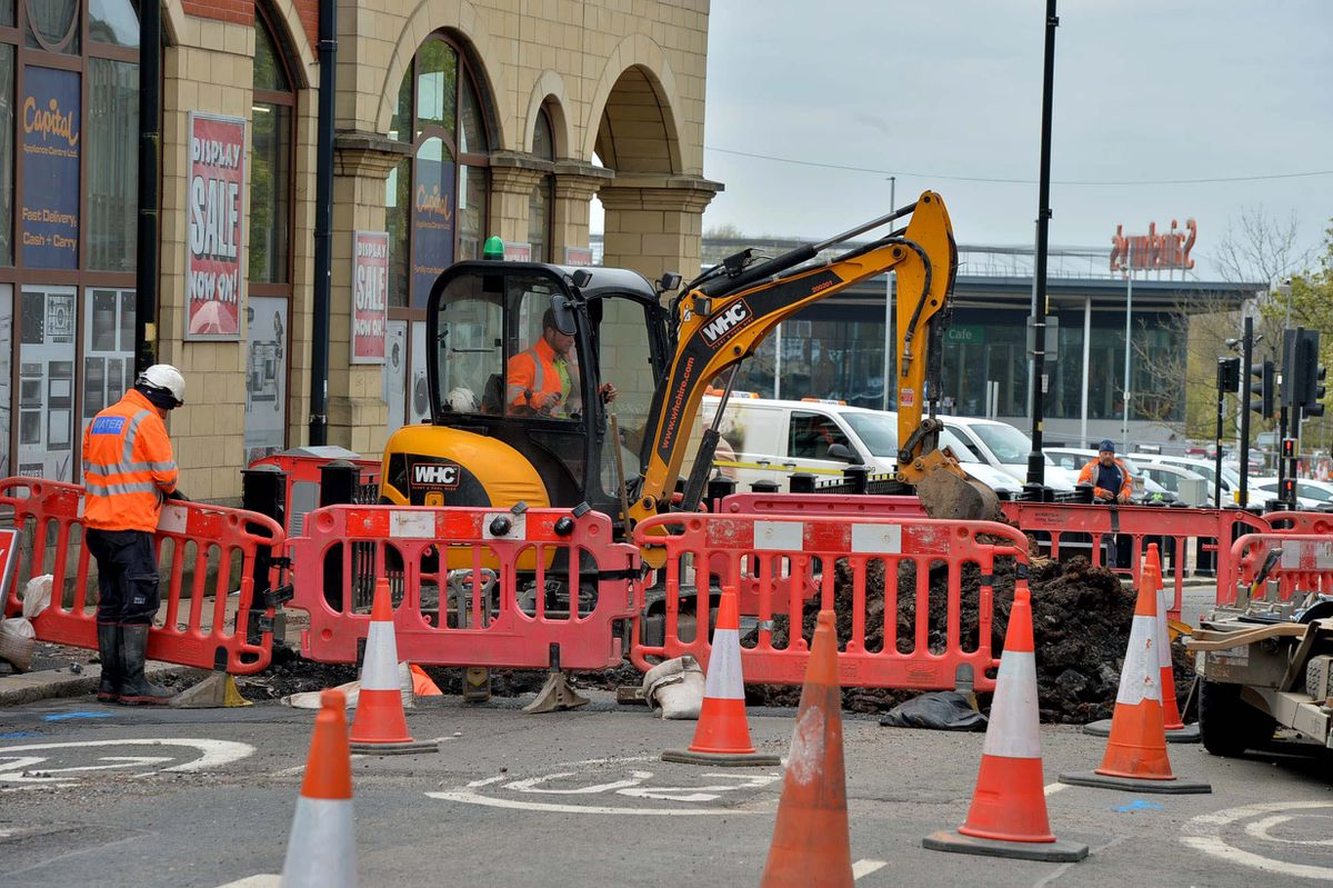 Severn Trent are currently working to fix the leak