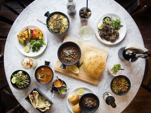 A wide variety of food is available at Dishoom
