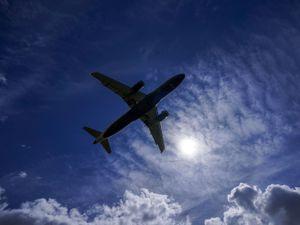 A plane near Heathrow Airport